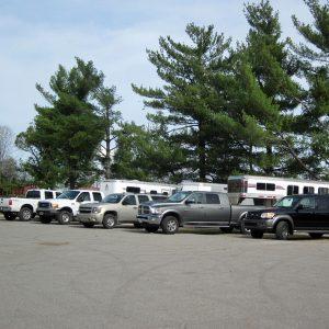 Paved parking near hunter arena
